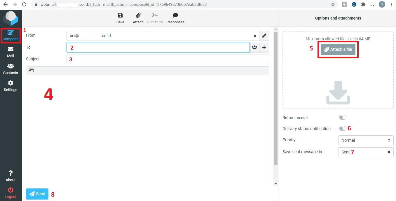 Cara mengirim email menggunakan email perusahaan